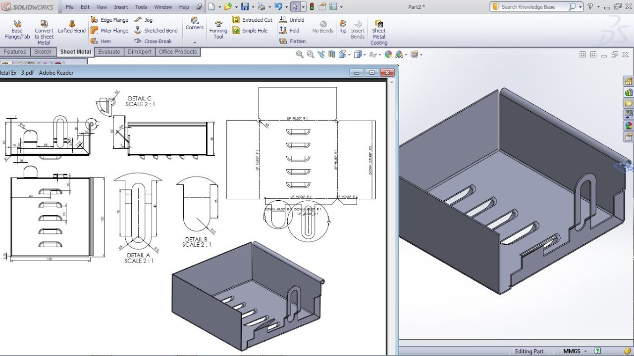 Solidworks Sheet Metal Practice Exercises For Beginners