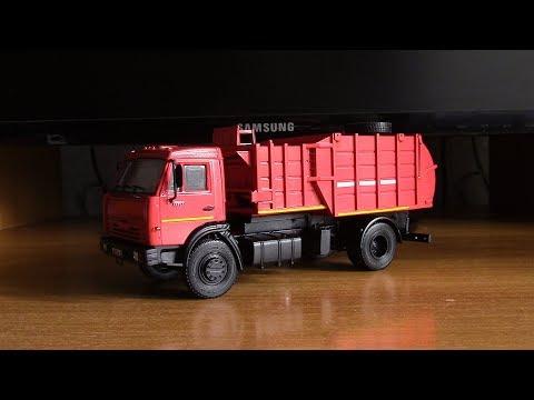 Сборка модели мусоровоза КАМАЗ 43253 МКМ 4503  AVD Models