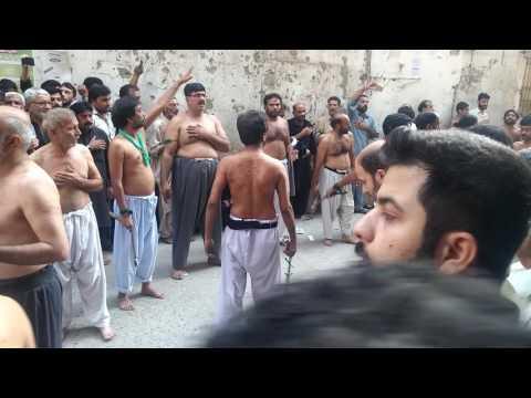 Zanjeer Zani Peshawar Alam Shah 10 Muharram 2016