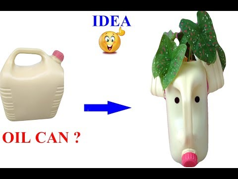 DIY Oil Can Planter/Oil Can craft by Garden Globe