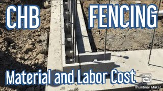 Magkano Gastos Magpagawa ng Bakod, Concrete Fence, Construction Material Price List, Labor Cost