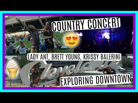 Outdoor Country Concert! + Exploring Downtown Cleveland + Icecream Tour