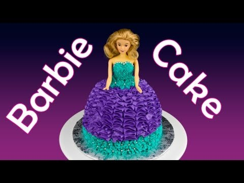 Barbie Cake / Princess Cake: How to Make a Barbie Cake by Cookies Cupcakes and Cardio