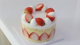 딸기 프레지에 케이크 만들기 : 딸기케이크 만들기 : …