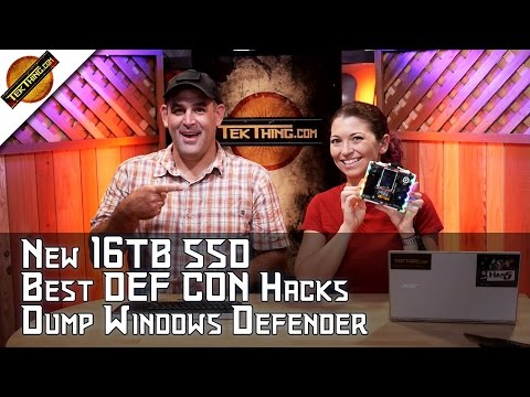 DEF CON Hacks, 16TB Samsung SSD, Replace Windows Defender, Tablets For Kids, 10Gb Ethernet, MORE!