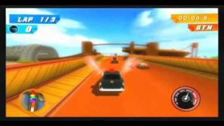 hot wheels track attack wii 3 lap race