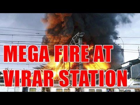Fire at Virar Station Platform | mumbai | virar railway station news | virar station, Fire in mumbai