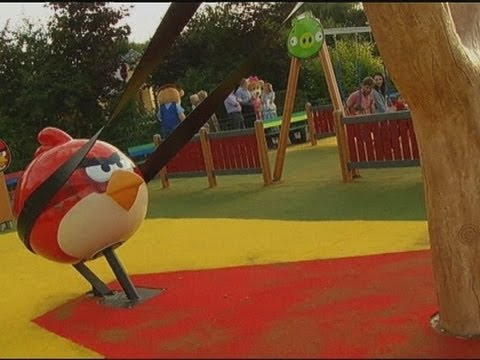 angry birds theme park opens in uk youtube. Black Bedroom Furniture Sets. Home Design Ideas