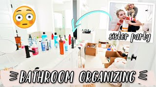 ORGANIZING MY NEW BATHROOM! MOVING VLOGS!