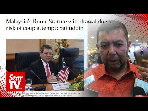 Govt to give clearer explanation on Rome Statute withdrawal, says Marzuki