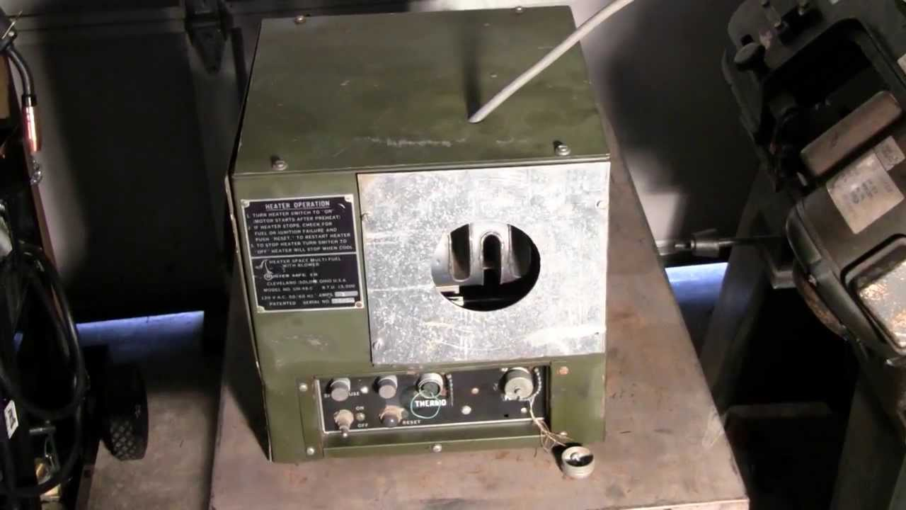 Rare Military Multi Fuel Heater Youtube