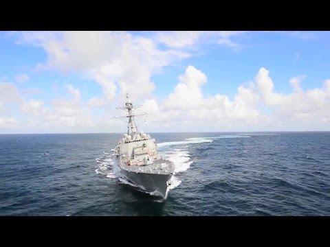 Ingalls Shipbuilding - John Finn (DDG 113) Guided Missile Destroyer Weapons Live Firing Tests [720p]