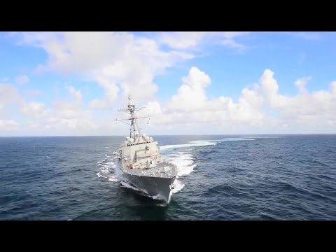 Ingalls Shipbuilding  John Finn DDG 113 Guided Missile Destroyer Weapons Live Firing Tests 720p