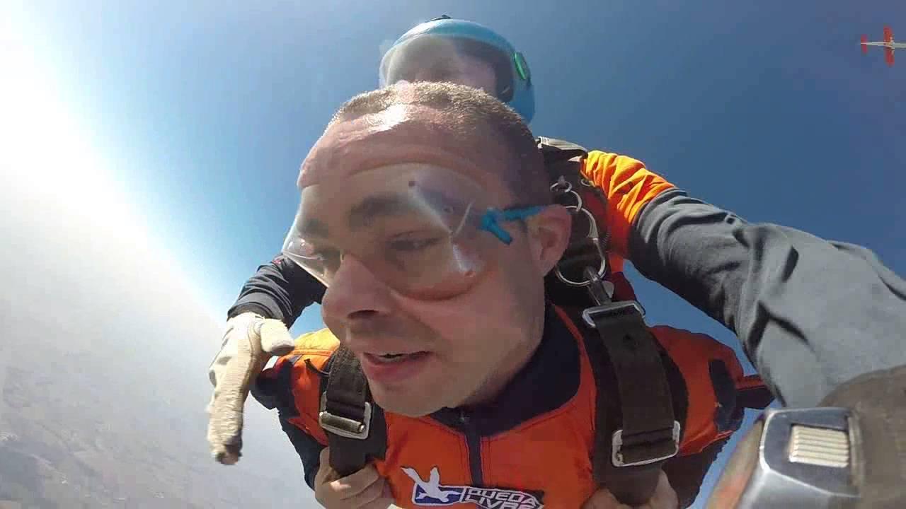 Salto de Paraquedas do Kleberson na Queda Livre Paraquedismo 30 07 2016
