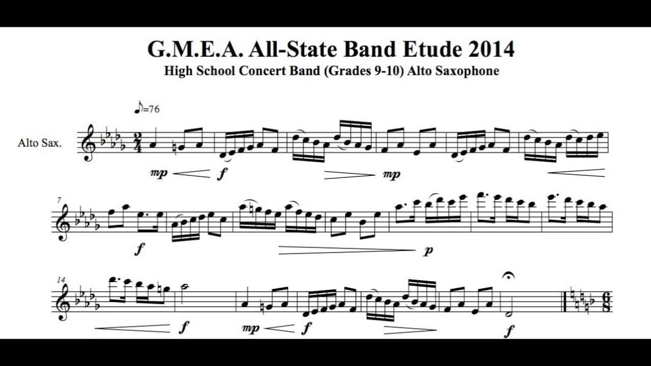 Etude Alto Saxophone : 2014 gmea all state etude alto saxophone concert band slow joren cain saxophone youtube ~ Vivirlamusica.com Haus und Dekorationen
