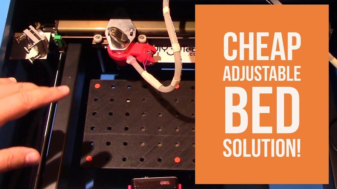 Adjustable Bed Base >> K40 eBay Chinese CO2 Laser Cutter & Engraver - Cheap Adjustable Bed Solution! - YouTube