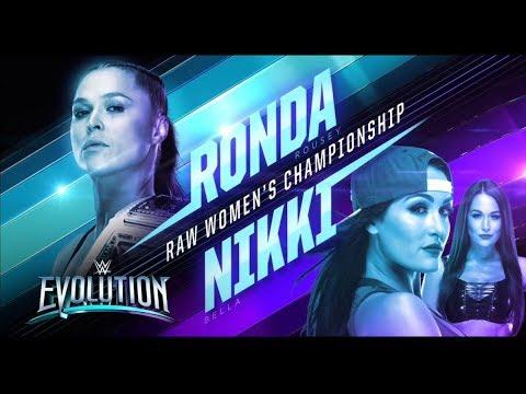 FULL MATCH - Ronda Rousey Vs Nikki Bella - RAW Womens Championship Match: WWE Evolution 2018