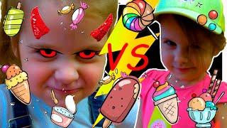 Ева и мама играют в магазин МОРОЖЕНОГО для ДЕТЕЙ & Eva Pretend play selling plastic ice cream