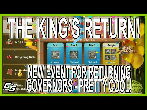 RETURNING GOVERNORS - SPECIAL EVENT AWAITS - Rise Of Kingdoms