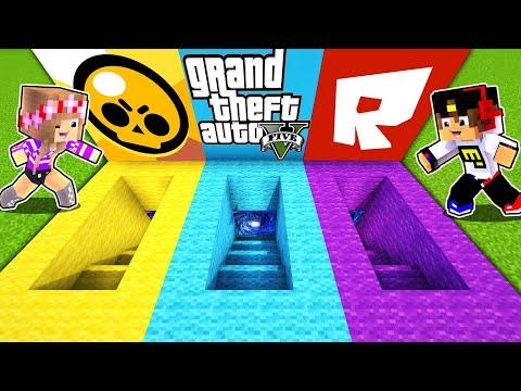 Майнкрафт но ПОРТАЛ Бравл Старс ГТА 5 Роблокс и Тик Ток в Майнкрафте Троллинг Ловушка Minecraft