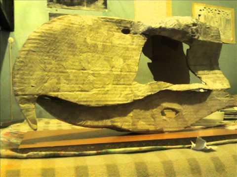 Cráneo a tamaño natural del ave terror Patagornis marshii