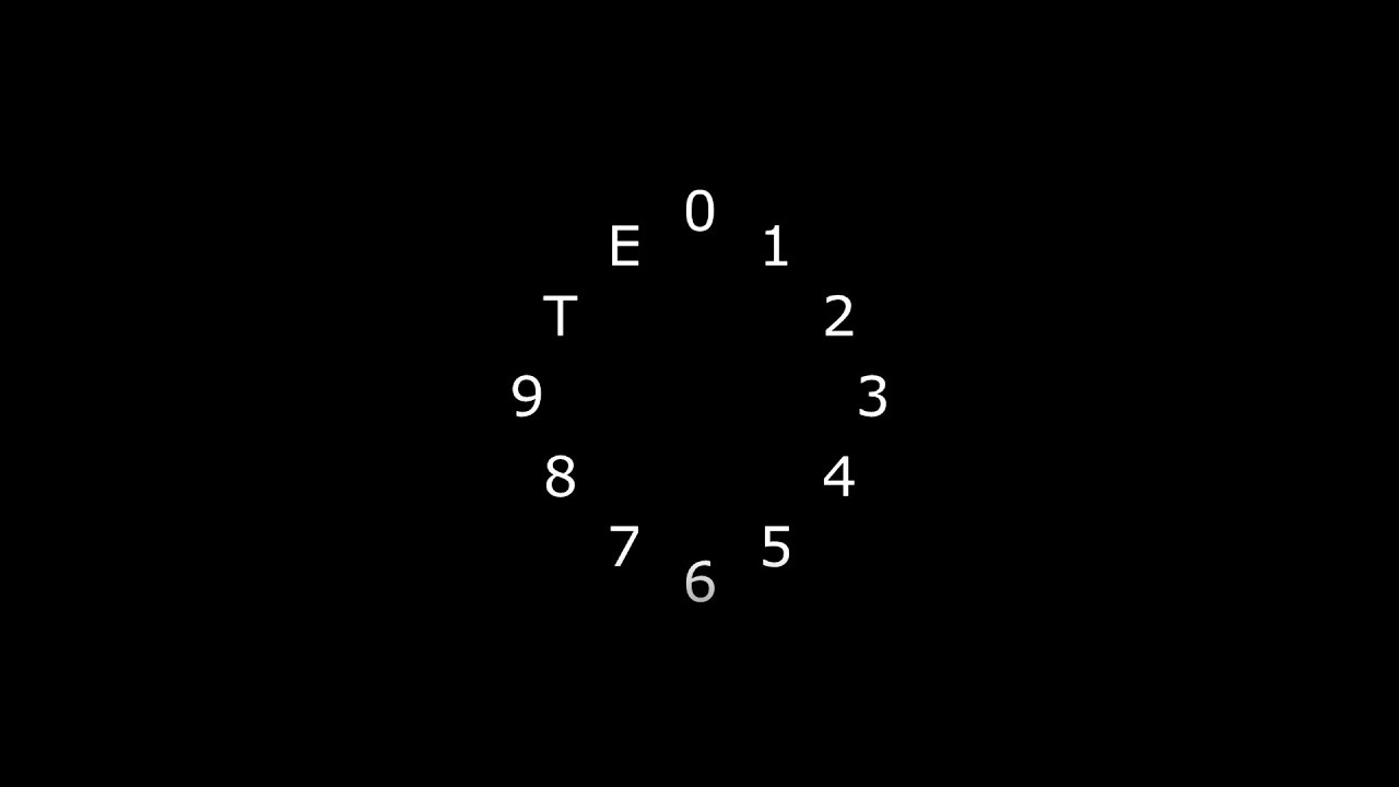 hight resolution of the clock diagram
