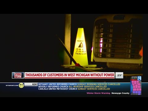 Thousands without power in West Michigan