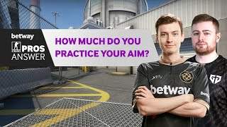 CS:GO Pros Answer: How Much Do You Practice Your Aim?