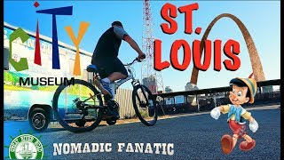 St. Louis City Quirk On Bike With Pinocchio