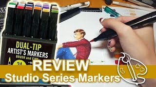 Studio Series Markers Review [Actual Copic Markers Alternative?!]