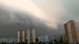Příchod bouřky do Ostravy - Coming storm 10.7.2011 5.30