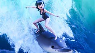 HOTEL TRANSYLVANIA 3 Delphine Surfing Scene (2018) Movie Clip