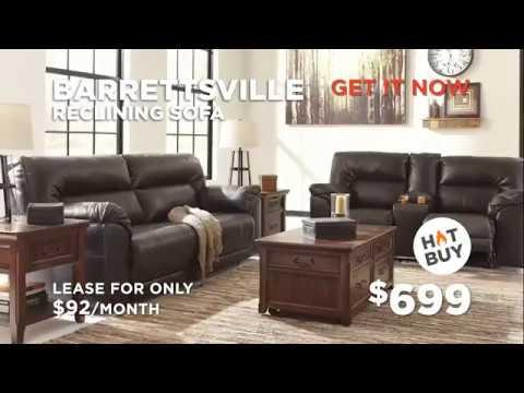 Barrettsville Reclining Sofa U0026 Ashley Recliner