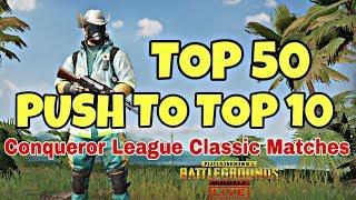 TOP 50 to TOP 10 Rank PUSH (ENGLISH/HINDI) | PUBG MOBILE Season 4 SouL Clan