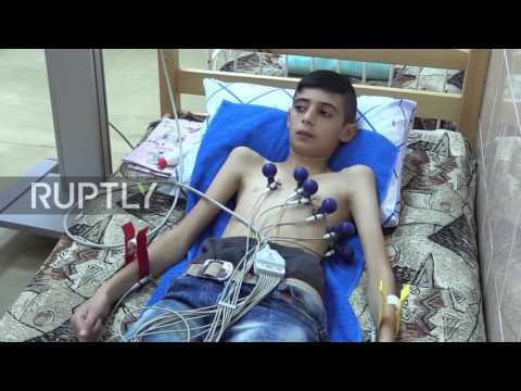 Russia: Syrian children with chronic diseases arrive in St. Petersburg for treatment