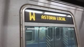 NYC Subway Special: Whitehall Street-bound R160 (W) Entering & Leaving Lexington Avenue-63rd Street