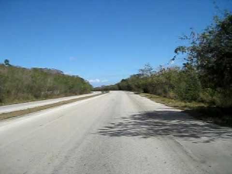 Cycling on Cuba Dual Carriageway - Autopista