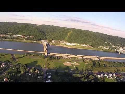 Hannibal, Ohio drone video