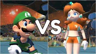 Super Mario Strikers - Luigi vs Daisy - GameCube Gameplay (720p60fps)