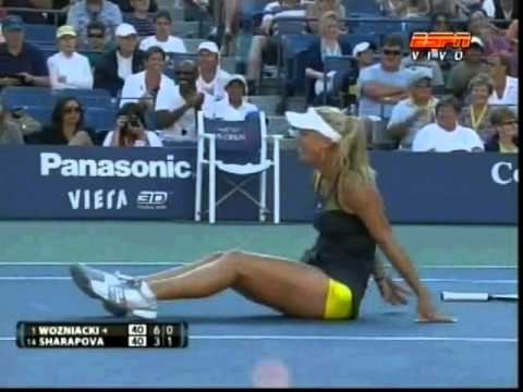 TENNIS - Caroline Wozniacki crazy and the yellow panty
