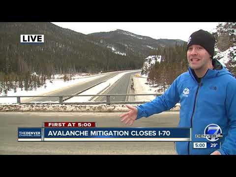 I-70 remains closed Tuesday afternoon hours after avalanche mitigation efforts