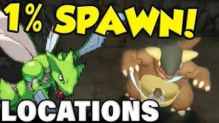 ALL 1% RARE POKEMON LOCATIONS! Pokemon Let's Go Rare Pokemon Guide