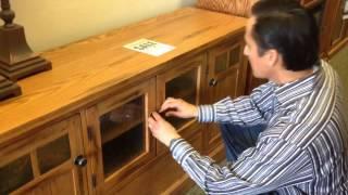"Oak For Less® - Clearance 60"" Rustic Oak Tv Stand"