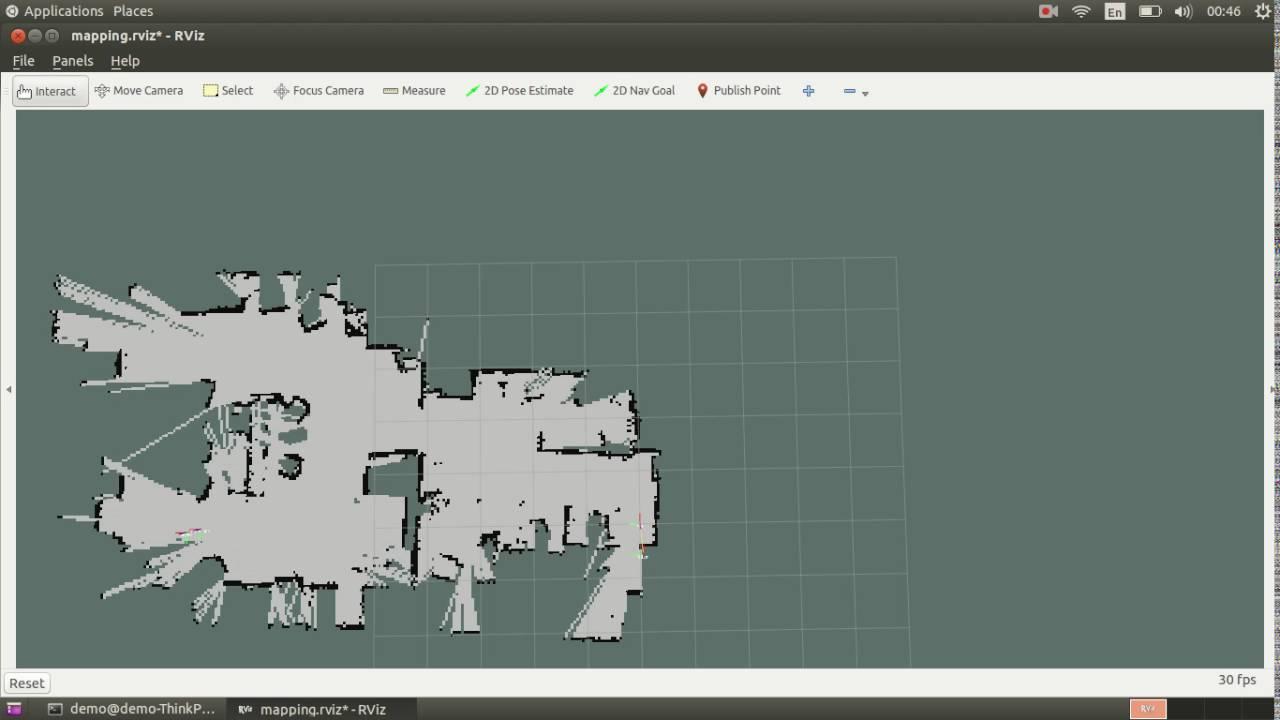Demo for 2-D Lidar-based SLAM (Low-cost RPLidar A2)
