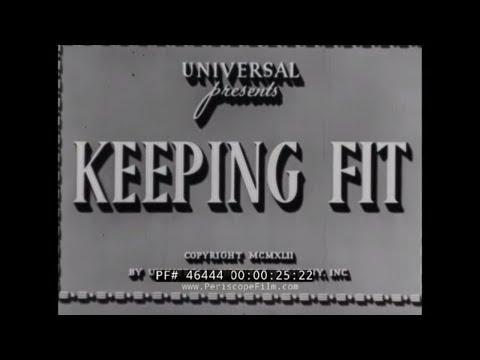 WARTIME NUTRITION & EXERCISE FILM w/ ANNE GWYNNE, ROBERT STACK, ARTHUR LUBIN 46444