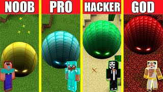 Minecraft Battle: TUNNEL HOUSE BUILD CHALLENGE - NOOB vs PRO vs HACKER vs GOD / Animation PIT HOLE