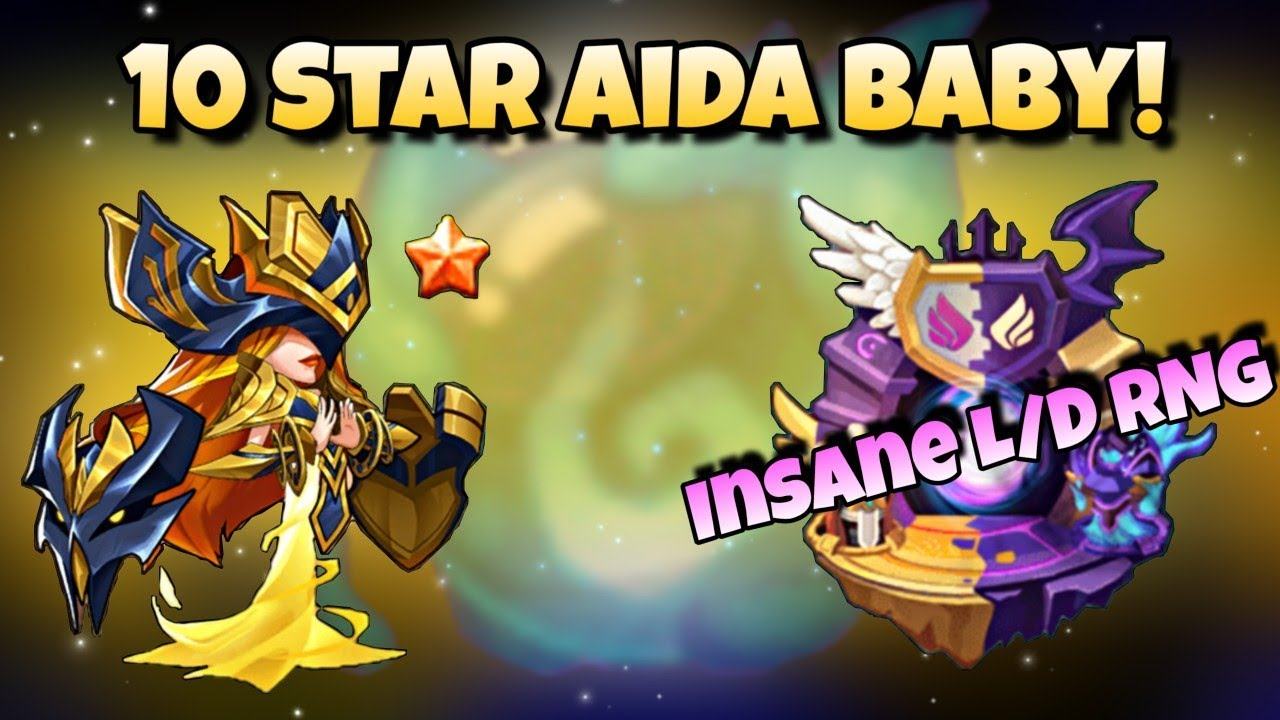 Idle Heroes (O+) - Best L/D Summon Luck of My Life! - 10 Star Aida Time!