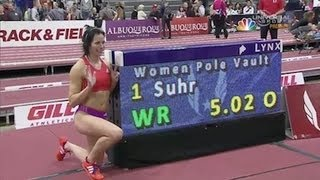 Jen Suhr sets new Indoor Pole Vaulting World Record- Universal Sports