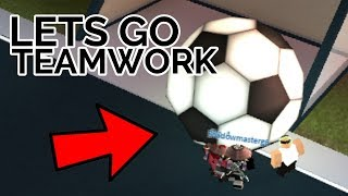 I GOT THE SOCCER BALL IN THE GOAL! | Jailbreak | ROBLOX