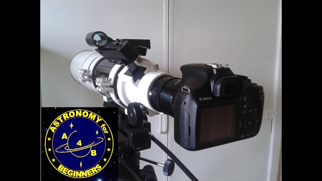 Hook up dslr to telescope